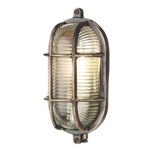Admiral Small Bulkhead Antique Copper ADM5264 - The Light Company