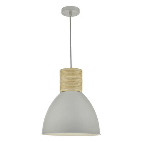 Adna Pendant Grey & Wood där Lighting ADN0139