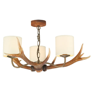 Antler 3 Light Pendant Complete with Shades