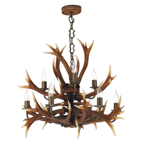 Antler 9 Light Tiered Chandelier