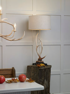Antler Large Table Lamp Complete with Shade