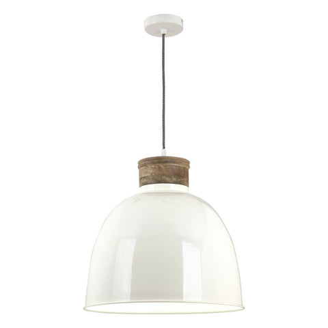 Aphra Pendant in Cream Gloss Large APH0133