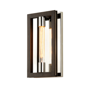 Enigma Wall Sconce B6181-CE Bronze with Polished Stainless Troy Lighting