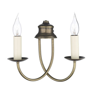 Bermuda Wall Light Aged Brass BE28 David Hunt Lighting
