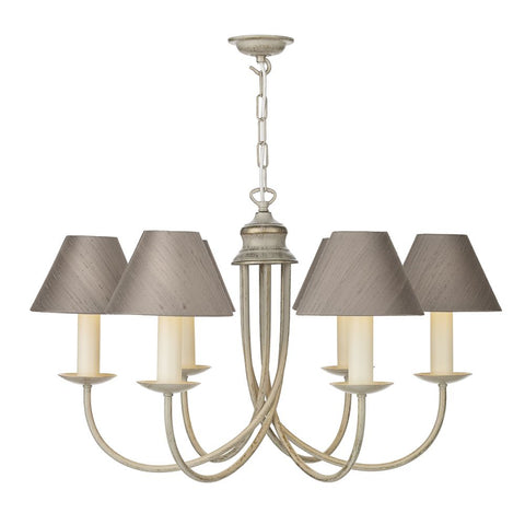 Bermuda 6 Light Cream Gold BE69 David Hunt Lighting