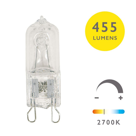3 Pack G9 Halogen Dim Lamp 33W 240V Clear
