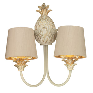 Cabana Double Wall Light CAB0912 Cream / Gold