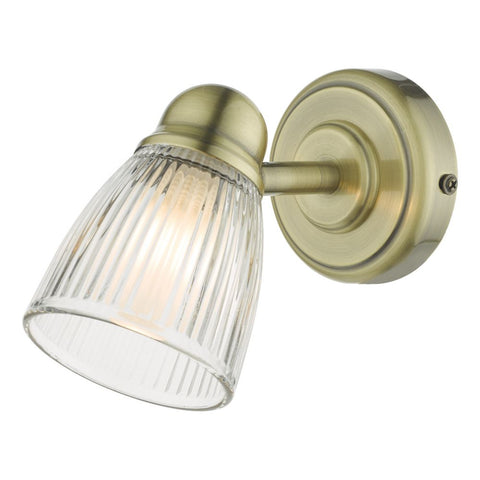 Cedric Wall Light IP44 CED0775 där lighting Antique Brass