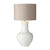The Como Table Lamp Base Only White Ceramic Large COM4302