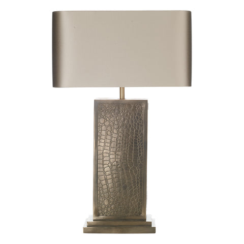 Croc Table Lamp Bronze Comes with Bespoke Shade CRO4200 DHL