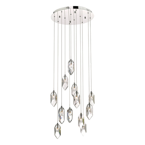 Crystal 12 Light Cluster Chandelier