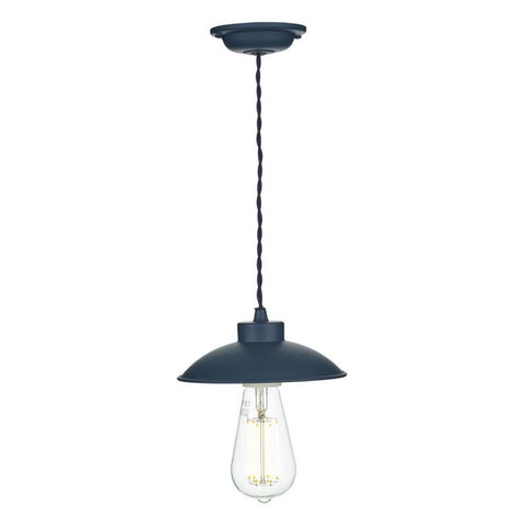 Dallas Ceiling Pendant Light Smoke Blue David Hunt Lighting DAL0123