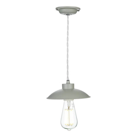 Dallas Ceiling Pendant Light Powder Grey David Hunt Lighting DAL0139