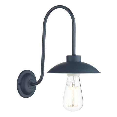 Dallas Wall Light Smoke Blue David Hunt Lighting DAL0723