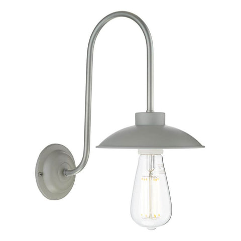 Dallas Wall Light Powder Grey David Hunt Lighting DAL0739