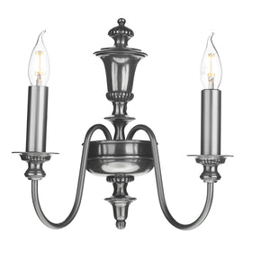 The Dickens Double Wall Light Pewter DIC0967