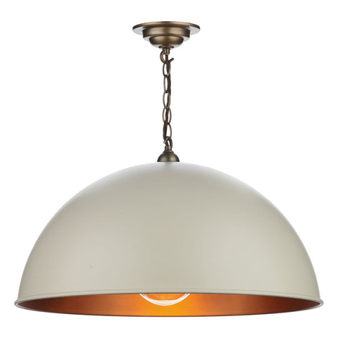 David Hunt Lighting Ealing Pendant Cream 55 cm EAL0112