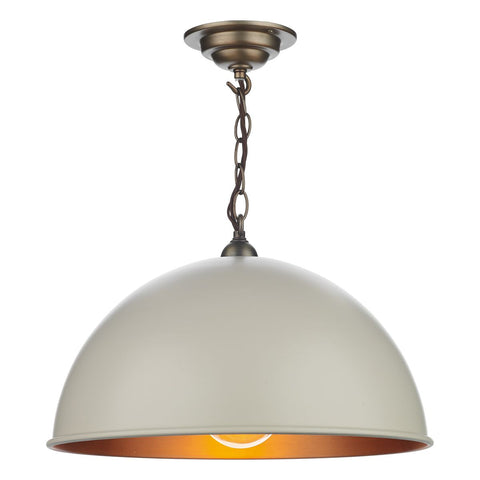 David Hunt Lighting Ealing Pendant Cream 42 cm EAL8612