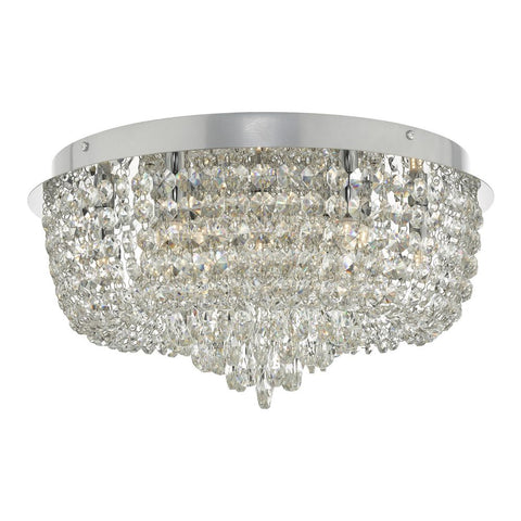 Eitan 9lt Beaded Flush Crystal and Chrome där lighting EIT5008