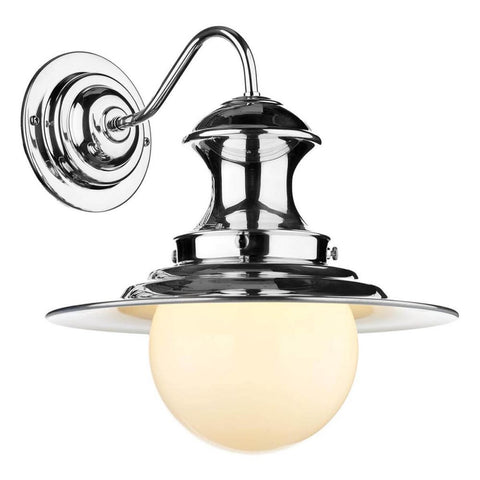 David Hunt Lighting Station Wall Light Polished Chrome EP0750