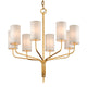 Juniper 8 Light F6168-CE Gold Leaf Troy Lighting