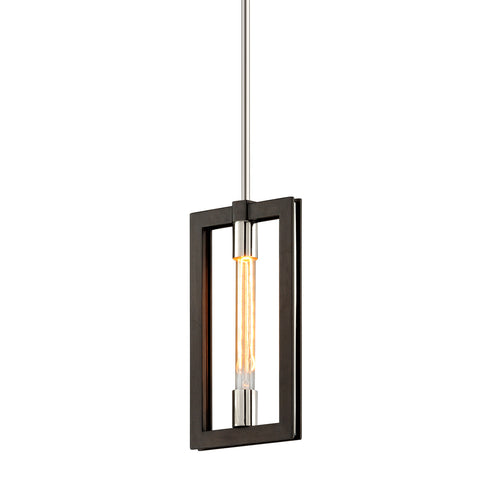 Enigma Pendant F6183-CE Bronze with Polished Stainless Troy Lighting