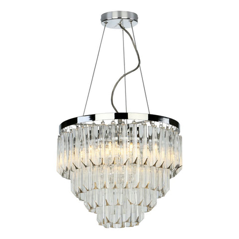 Fame 5 Light Pendant Polished Nickel där Lighting FAM0538