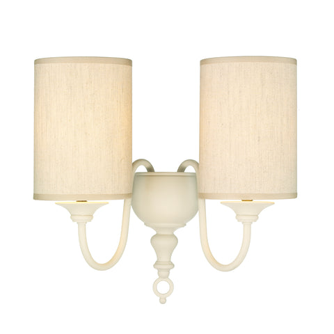 Flemish Double Wall Light Cream Complete with Shades FLE0933