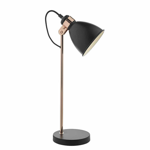 Frederick Task Table Lamp Black and Copper FRE4222 där lighting