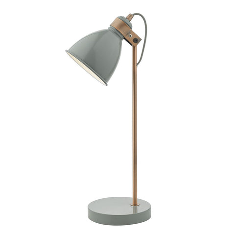 Frederick Task Table Lamp Grey and Copper FRE4239 där lighting