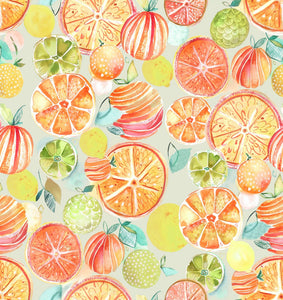 Oil Cloth Fruity Mandarin by Voyage Maison