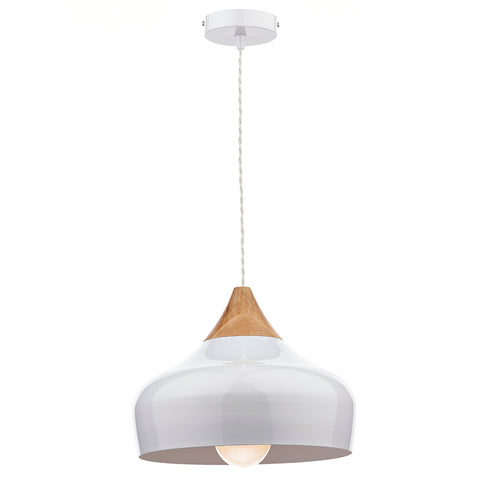 Gaucho 1 Lt Pendant White GAU0102 där lighting
