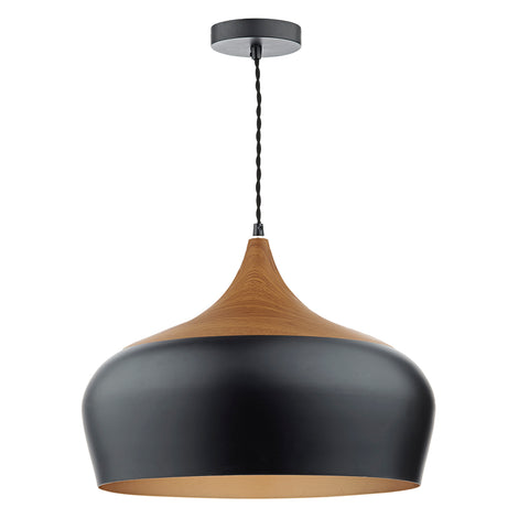 Gaucho 1 Lt Pendant Black Large GAU8622 där lighting