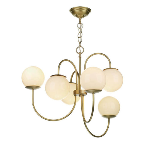 Gavroche Butter Brass Chandelier David Hunt Lighting GAV0640