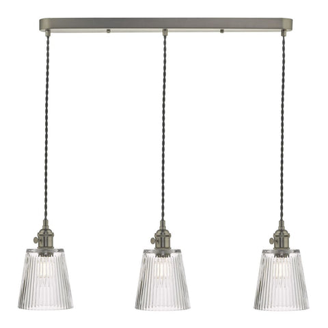 Hadano Triple Bar Pendant Modular där lighting Antique Chrome