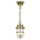 Harbour 1 LT Pendant Brass HAR0140 - The Light Company