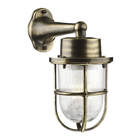 Harbour Wall Light Antique Brass HAR1575 - The Light Company