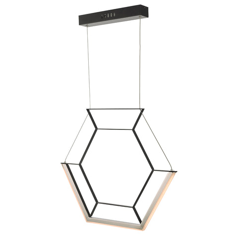 Hexagon Pendant HEX0122 Black där lighting