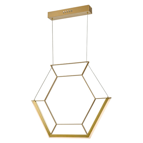Hexagon Pendant HEX0135 Gold där lighting