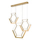 Hexagon Bar Pendant HEX0335 Gold där lighting