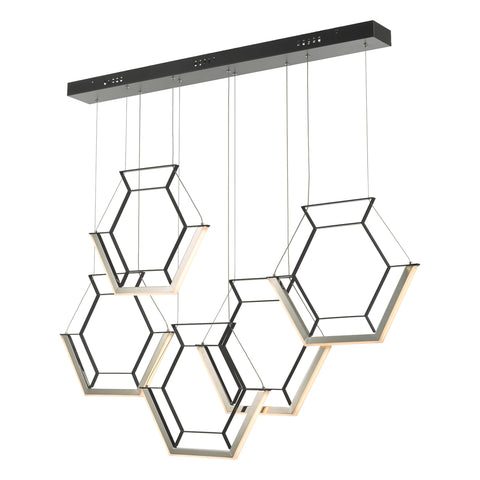 Hexagon Bar Pendant HEX0522 Black där lighting