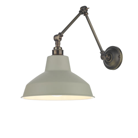 Hoxton Wall Light David Hunt Lighting HOX0775 Pebble Shade