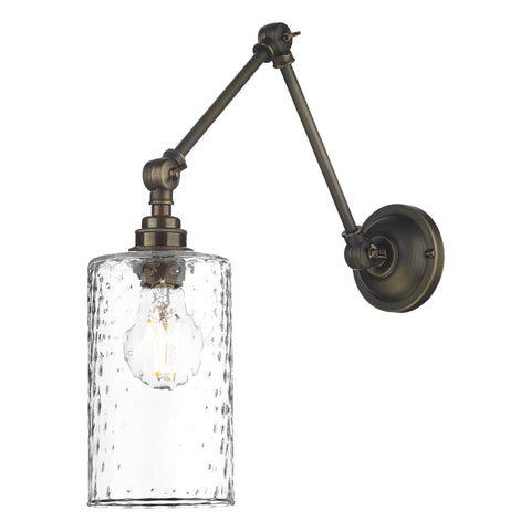 Hoxton Wall Light David Hunt Lighting HOX0775 Clear Glass