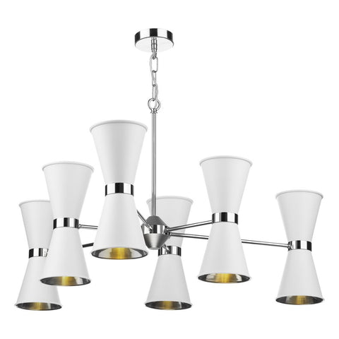 David Hunt Lighting Hyde 12 Light Chandelier HYD1200 Chrome
