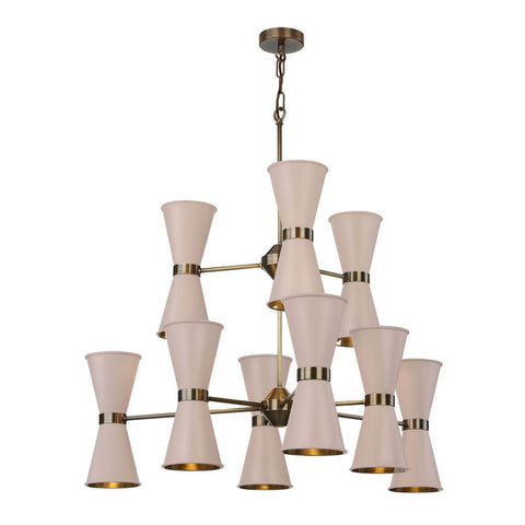 David Hunt Lighting Hyde 18 Light HYD1800 Antique Brass