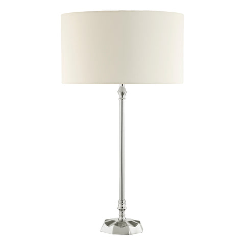 Iowa Table Lamp Base Nickel or Brass Finish