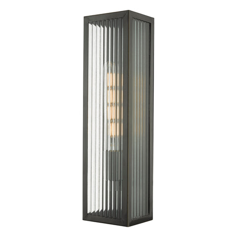 Keegan Outdoor Wall Light Rubbed Bronze Large KEE5063 där lighting