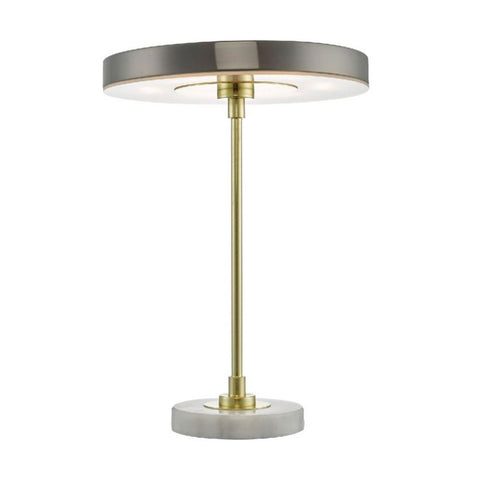 Kuopio Table Lamp Satin Brass and White Marble där lighting KUO4241