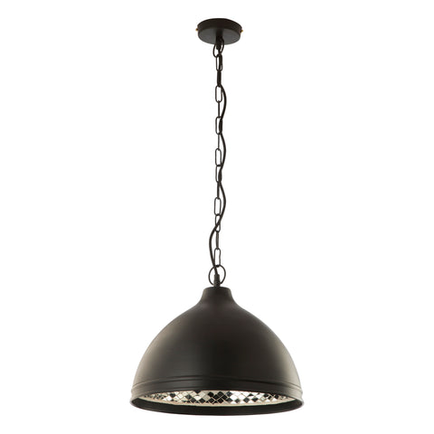 Leszno Pendant Black and Mirror LES0122