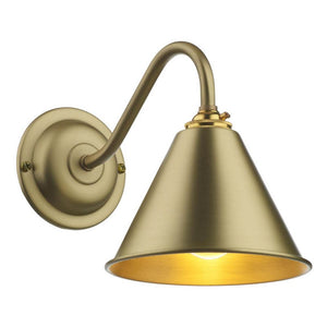 London Butter Brass Wall Light LON0740 David Hunt Lighting